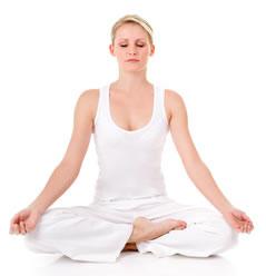 蓮のポーズ-瞑想