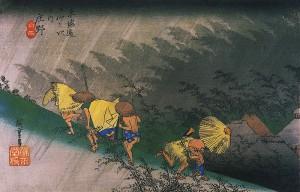歌川広重 庄野の雨