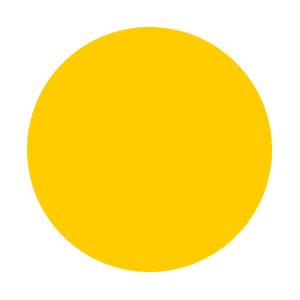 オレンジ色の円